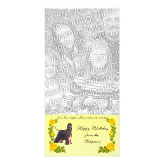 From One Afghan Hound Friend to Another Photo Card Template
