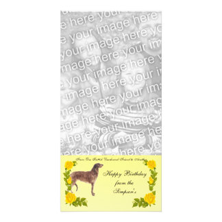 From One Scottish Deerhound Friend to Another Personalized Photo Card