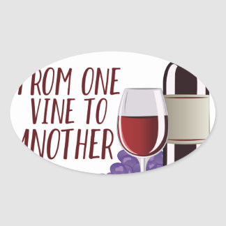 From One Vine Oval Sticker