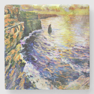 From Original Painting, Cliffs Of Moher, Ireland, Stone Coaster