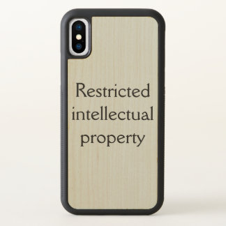 from Orphan Black,restricted intellectual property iPhone X Case