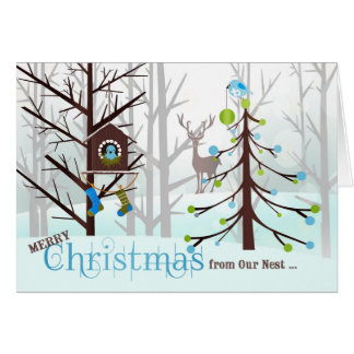 from Our Nest to Yours | Christmas Bluebirds Card