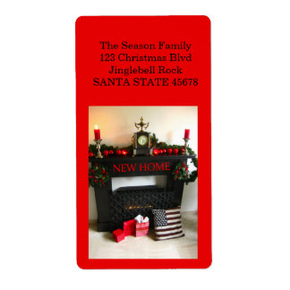 From our new Home Christmas Fireplace Shipping Label