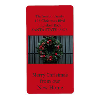 From our new Home Christmas Wreath Shipping Label