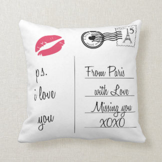 From Paris with Love Throw Cushion