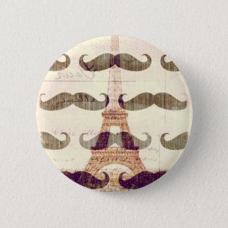 From Paris with mustache 6 Cm Round Badge