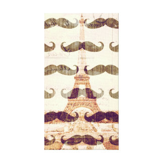 From Paris with mustache Canvas Print
