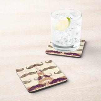 From Paris with mustache Coasters