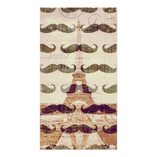 From Paris with mustache Poster