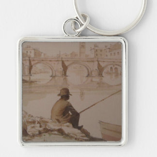 from Rome with love Silver-Colored Square Key Ring