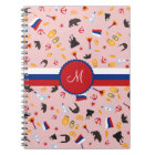 From Russia With Love- Russian Monogram Notebook