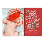 From Santa Birth Announcement Christmas Card
