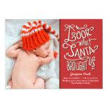 "From Santa Birth Announcement Christmas Card 5"" X 7"" Invitation Card"