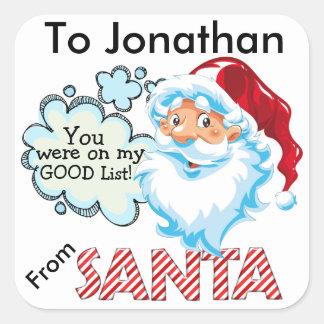 From SANTA Christmas Sticker - SRF