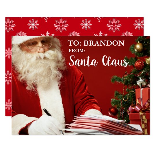 From Santa Claus ADD NAME Personalised SF Card