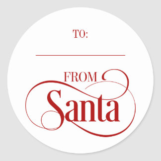 From Santa Claus Christmas Holiday Round Stickers