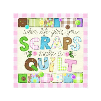"""From Scraps to Quilt"" Canvas Wall Art"