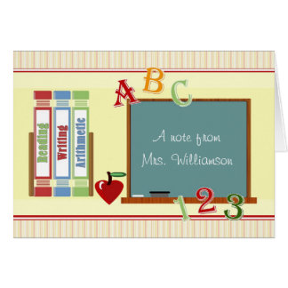 From Teacher Personalized ChalkBoard NoteCard Greeting Card