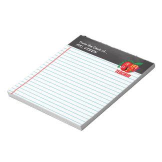 From the Desk of Chalkboard World's Best Teacher Notepad