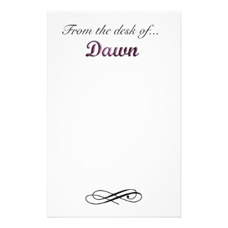From the desk of Dawn Stationery