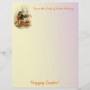 picture about Easter Bunny Letterhead referred to as Delighted Bunny Stationery Paper Zazzle AU