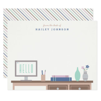 From the Desk of Stationery - Midnight Card