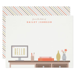 From the Desk of Stationery - Tomato Card