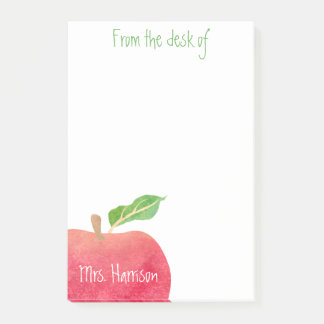 From the Desk of Teacher Red Apple Personalized Post-it® Notes