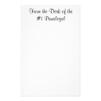 From the Desk of the #1 Paralegal Notepad Stationery
