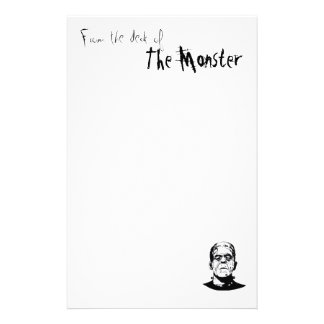From the Desk of The Monster Stationary Personalised Stationery