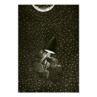 From the Earth to the Moon by Jules Vern art Poster