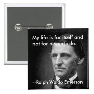From the essay Self-Reliance Ralph Waldo Emerson 15 Cm Square Badge