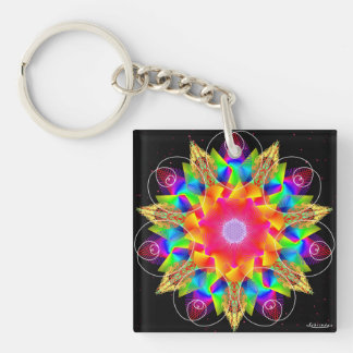 From the Heart/Celebrate Change Double-Sided Square Acrylic Key Ring