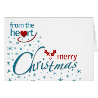 From the heart Merry Christmas Card