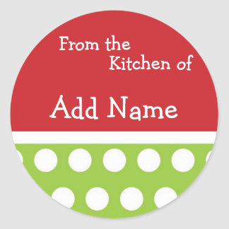 """From the Kitchen of"" Christmas Sticker"