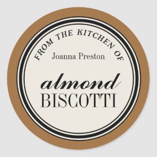 """From the Kitchen of"" Circle Label Template Round Sticker"