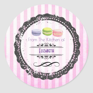 From The Kitchen Of Macaron Sweets Classic Round Sticker