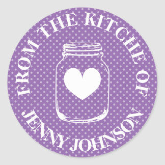 From the kitchen of mason jar polka dots stickers