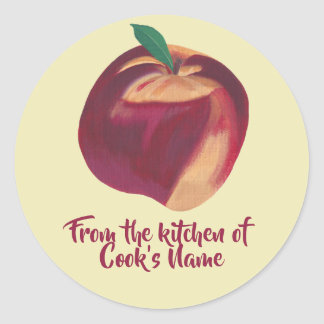 From the Kitchen of Personalised Peach Lid Sticker
