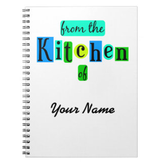 From the Kitchen of Retro Custom Notebook