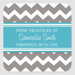 From the Kitchen of Sticker Blue Grey Chevron