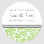 From the Kitchen of Sticker Lime Damask
