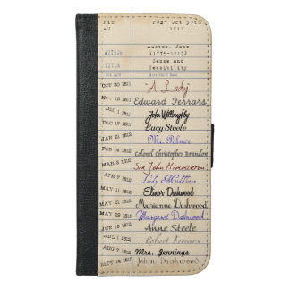 From the Library of Jane Austen iPhone 6/6s Plus Wallet Case