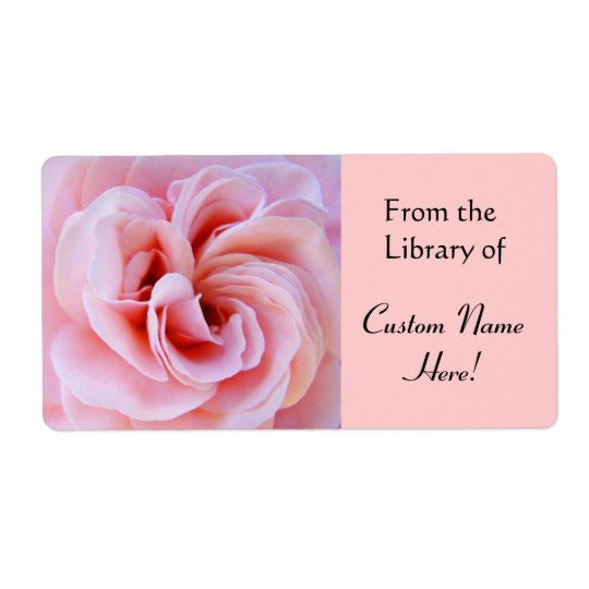 From the Library of Sticker Book Labels Pink Rose