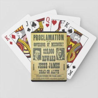 From the Wilds - Jesse James Wanted Playing Cards