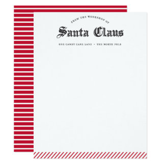 From The Workshop of Santa Claus Stationery, Card 11 Cm X 14 Cm Invitation Card
