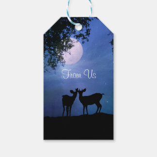 From Us Holiday Gift Tags with Deer