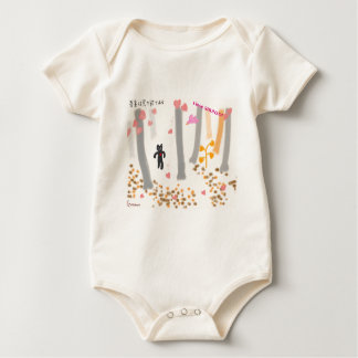 "From ""water caltrop rice field spring the omajiyu  baby bodysuit"