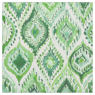 FROM WITHIN Green Moroccan Ogee Fabric