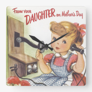 From Your Daughter on Mothers Day Wall Clocks